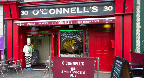 Store front image of O Connells Bar Dublin